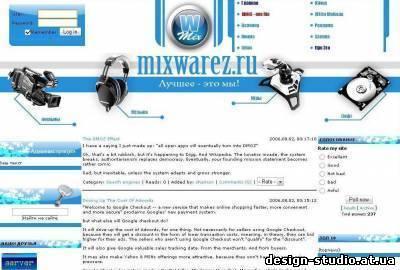 Нажмите чтобы увеличить. РИП сайта MixWAREZ.ru для ucoz.